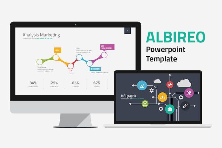 Plantilla de PowerPoint de Albireo