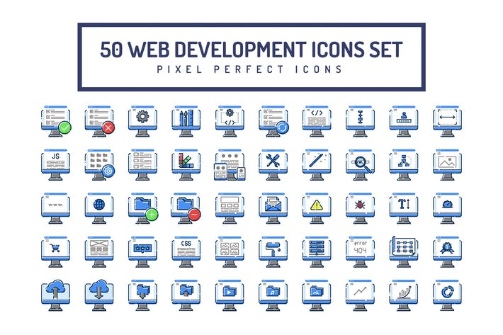Thumbnail for Web Development Blue Icons