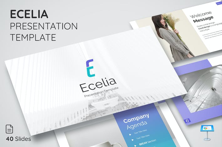 Thumbnail for Ecelia - Keynote Presentation Template