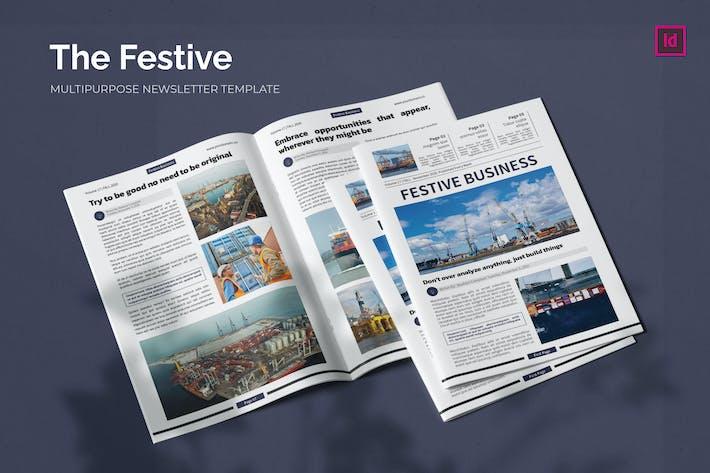 Thumbnail for Festive Business - Newsletter Template