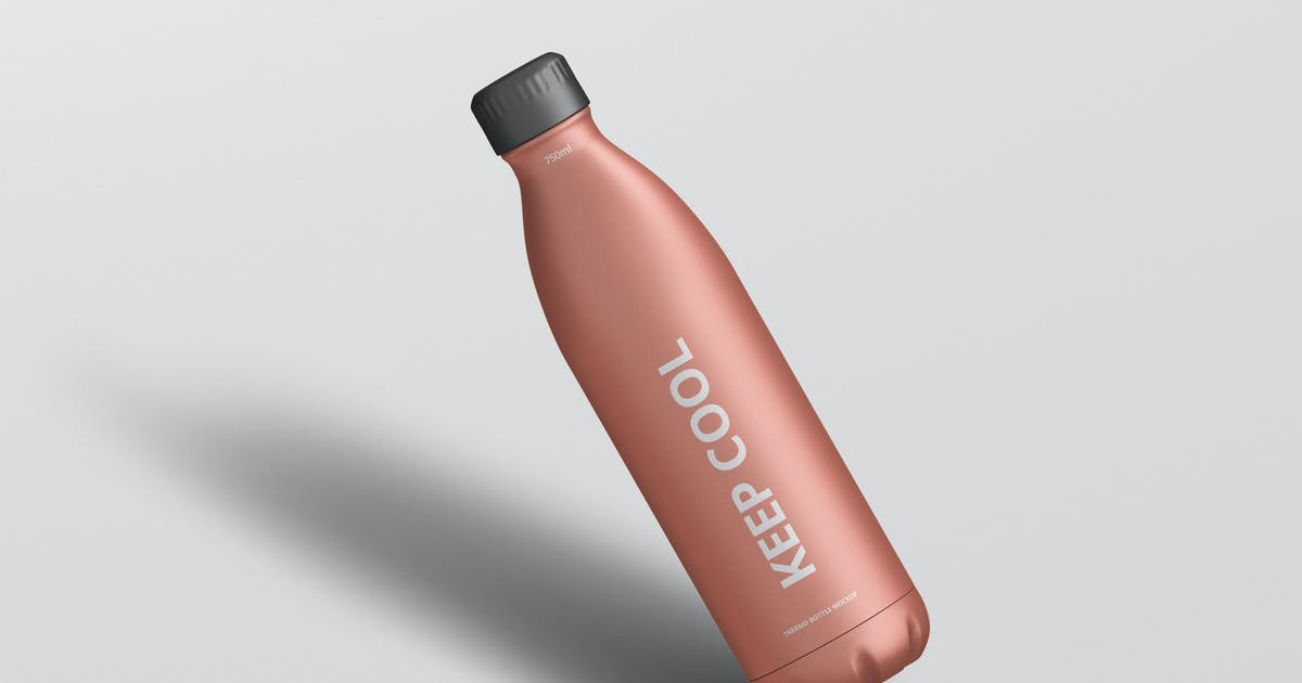 Download Thermo Bottle Mockup 750ml by visconbiz