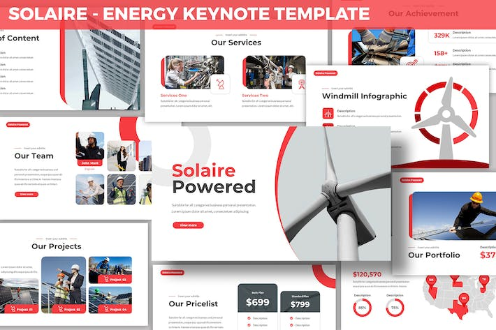 Thumbnail for Solaire - Energy Keynote Template