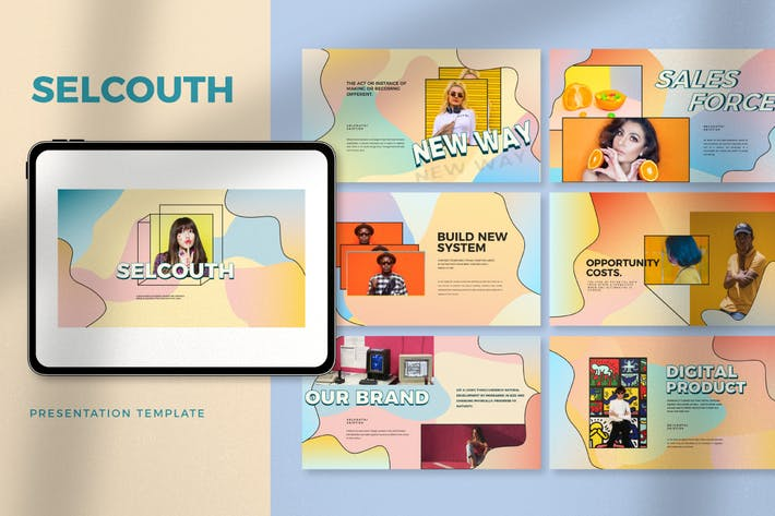 Thumbnail for Selcouth - Pastel Portfolio Creative Powerpoint