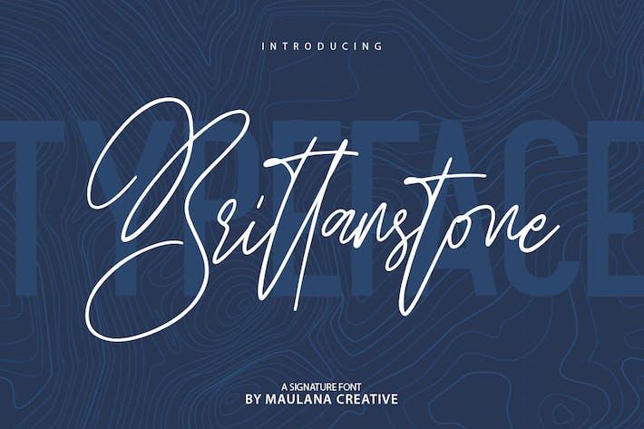 Thumbnail for Brittanstone - фирменный шрифт без С засечками