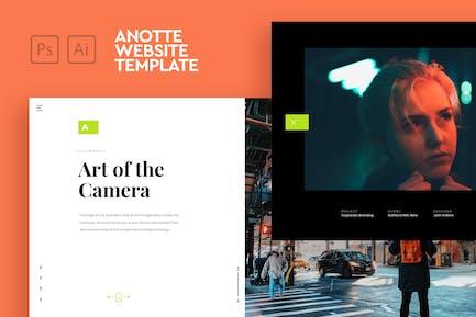 Anotte - Horizontal Photography PSD & AI Template