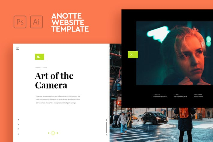 Thumbnail for Anotte - Horizontal Photography PSD & AI Template