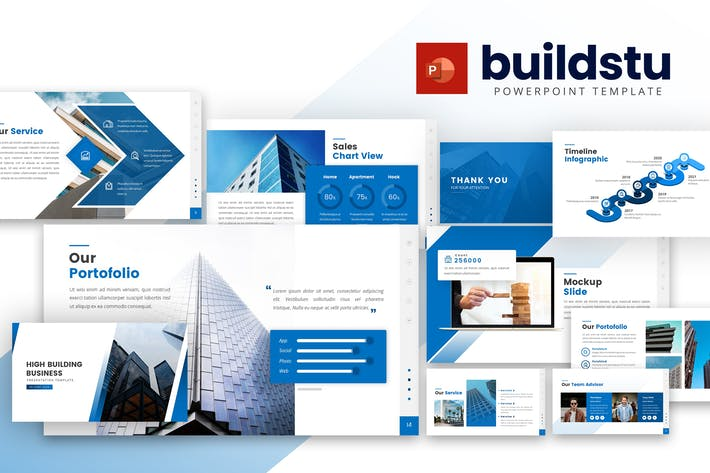 Thumbnail for Buildstu - Business Powerpoint Template