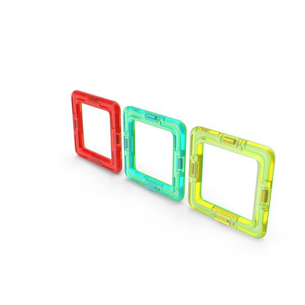 Магнитный дизайнер Цветные четыре квадрата
