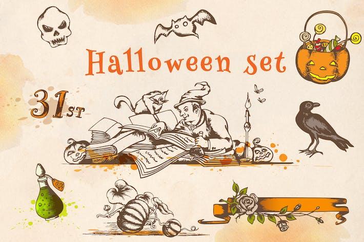 Thumbnail for Halloween Vintage Set