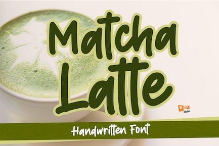 Matcha Latte - Handwritten Font