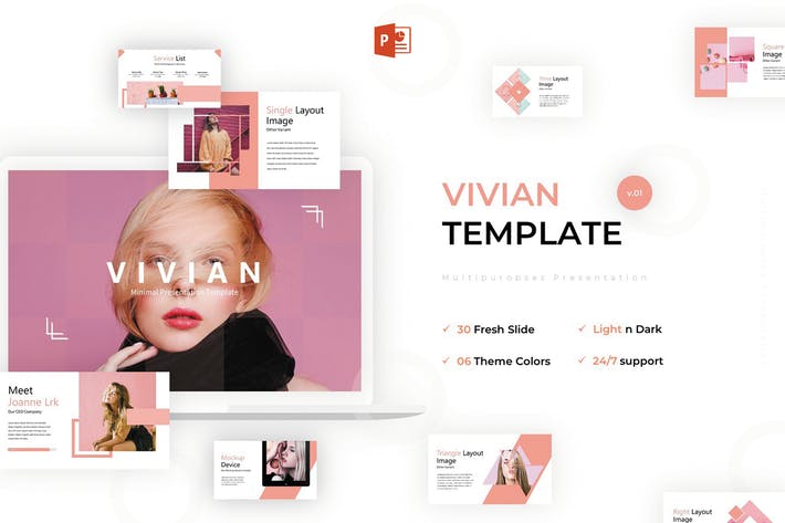 Thumbnail for Vivian - Powerpoint Template