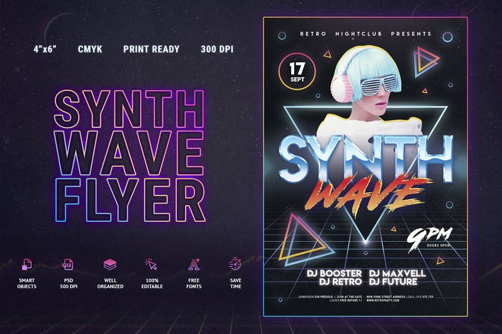 Thumbnail for 80's Synthwave Flyer