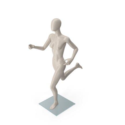Female Mannequin Running Pose