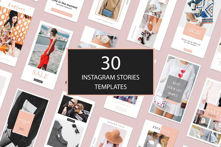 Thumbnail for 30 Instagram Stories Templates