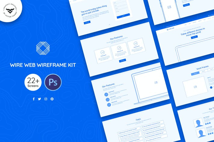Thumbnail for Wire Web Wireframe Kit