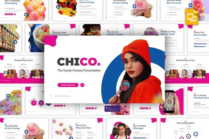 Thumbnail for Chico - Конфеты Фабрика Google Слайды Шаблон