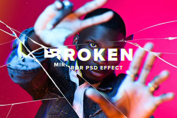 Broken Mirror Photo Effect