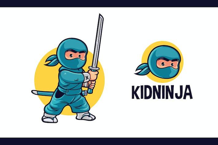 Thumbnail for Cartoon Cute Kid Ninja Character Mascot Logo