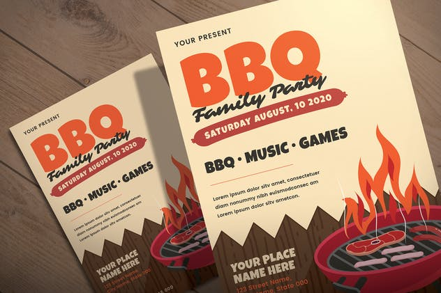 BBQ Family Party - Flyer Template