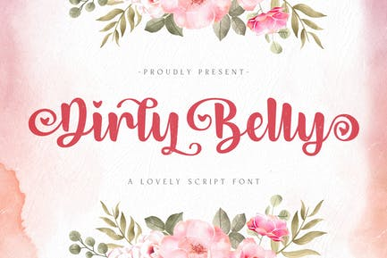 Dirly Belly - Lovely Calligraphy Font