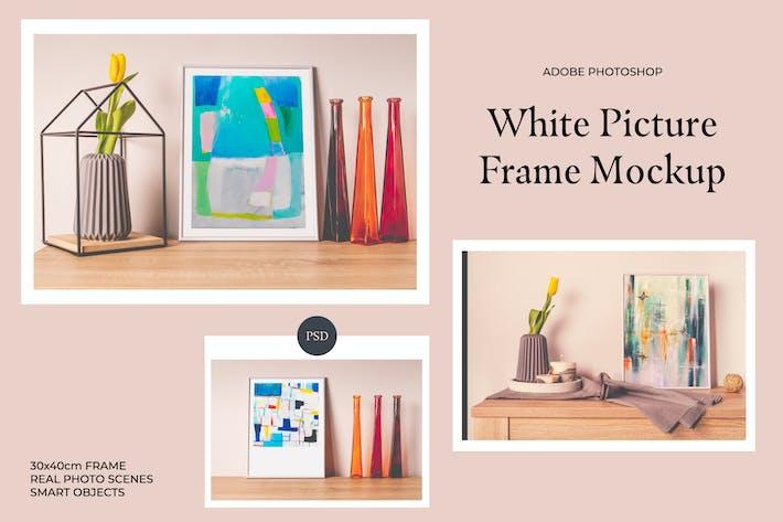 Thumbnail for Maquette de cadre photo blanc