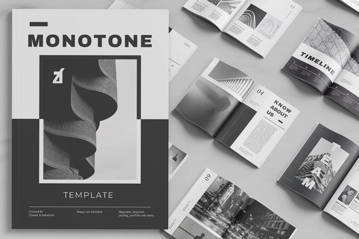 Thumbnail for Monotone magazine multi-purpose book