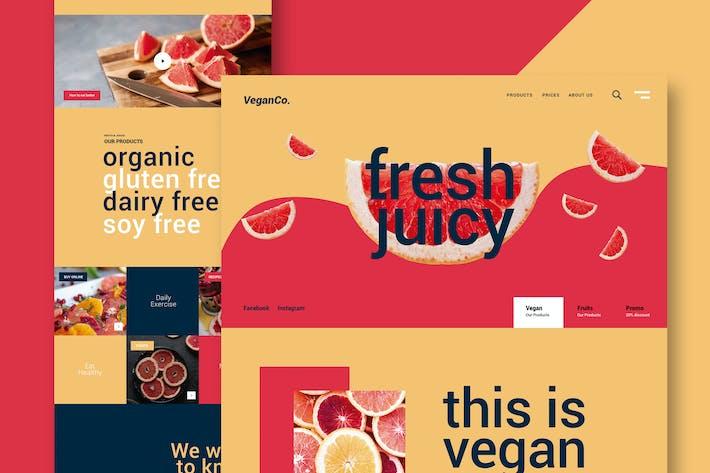 Thumbnail for Fresh Food - Website
