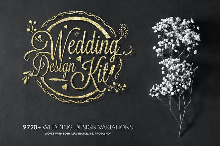 Thumbnail for Wedding Design Logo Kit