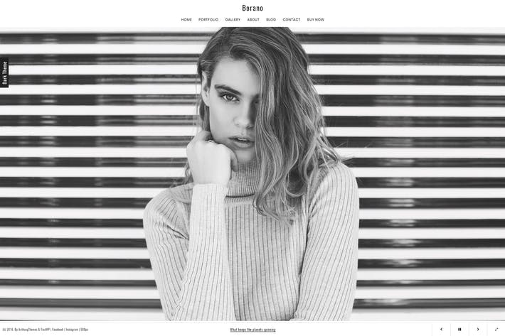 Thumbnail for Borano - Photography / Portfolio WordPress Theme
