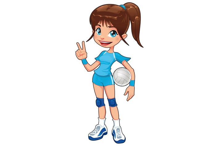Cover Image For Young volleyball player
