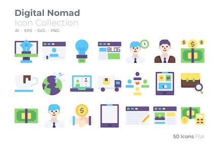 Digital Nomad Color Icon