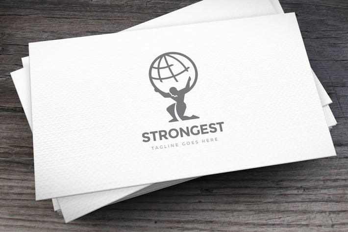 Thumbnail for Strongest Logo Template