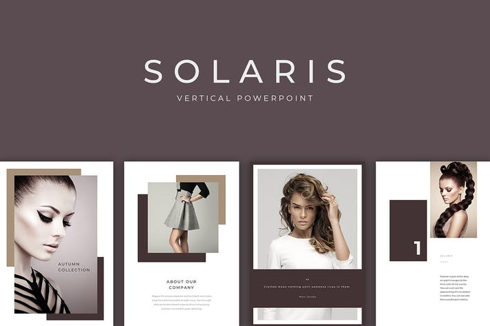 Thumbnail for Solaris Vertical PowerPoint Print Template