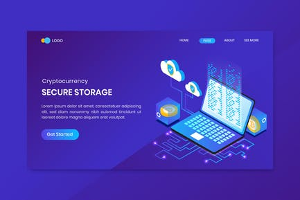 Secure Storage Cryptocurrency Landing Page