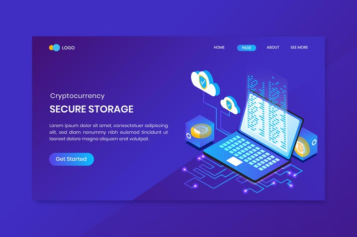 Thumbnail for Secure Storage Cryptocurrency Landing Page