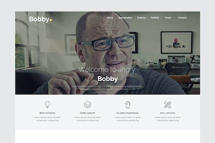 Бобби - Творческий сервис Unbounce целевой страницы