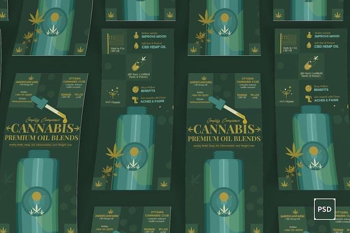 Thumbnail for Cannabis Hemp Oil Products Rackcard DL Flyer