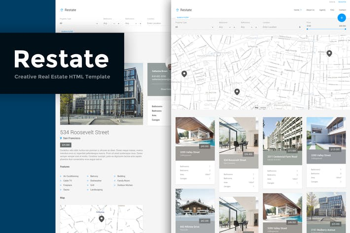 Thumbnail for Restate - Creative Real Estate HTML Template