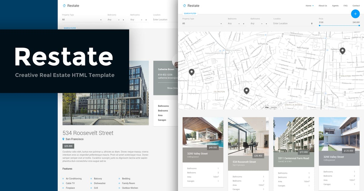 Download Restate - Creative Real Estate HTML Template by ThemeStarz