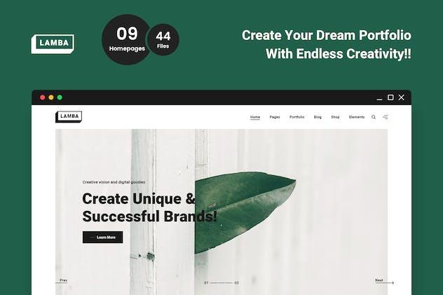 Lamba - Creative Portfolio & Agency HTML5 Template
