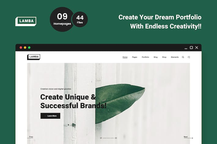 Thumbnail for Lamba - Creative Portfolio & Agency HTML5 Template