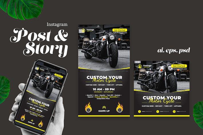 Thumbnail for Custom Motorbike Instagram Story Post