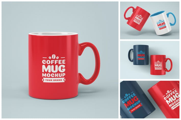 Thumbnail for Kaffeetasse Mockup Set