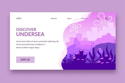 coral landing page template