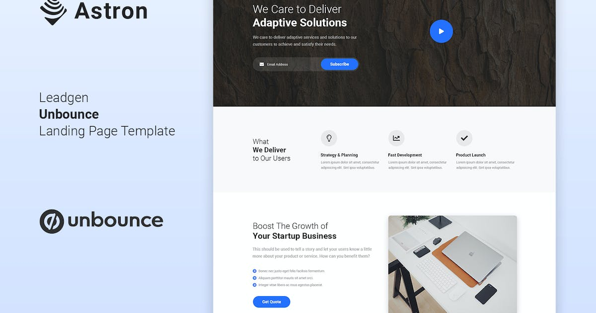 Download Astron - Leadgen Unbounce Landing Page Template by Morad