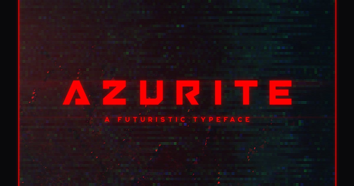 Download Azurite Typeface by MehmetRehaTugcu
