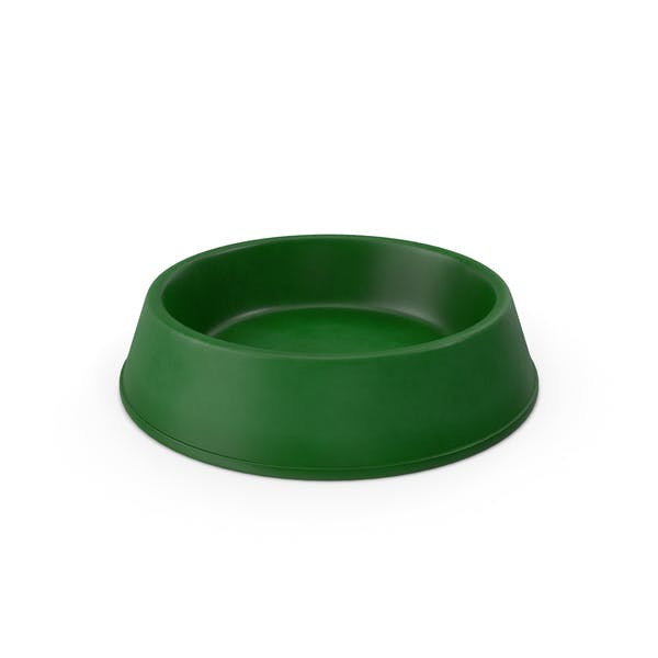 Realistic Pet Bowl Green