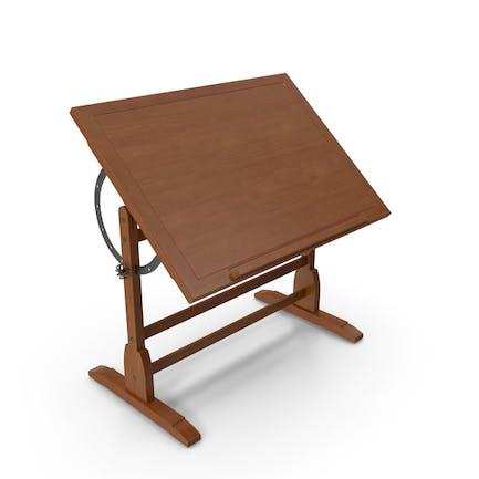 Vintage-Holz-Zeichentisch mit verstellbarer Tischplatte