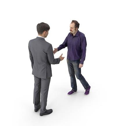 Мужчины рукопожатие