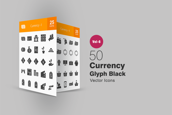 Thumbnail for 50 Currency Glyph Icons